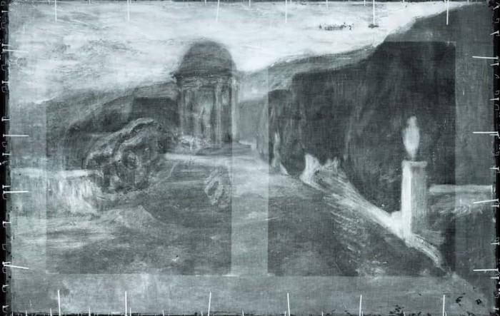 对毕加索画作的X射线扫描揭示背后隐藏的风景画