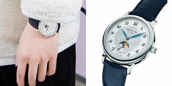 杨洋佩戴万宝龙明星系列月相腕表