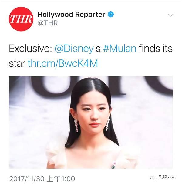 演真人版花木兰资源这么好,刘亦菲是触底反弹了?